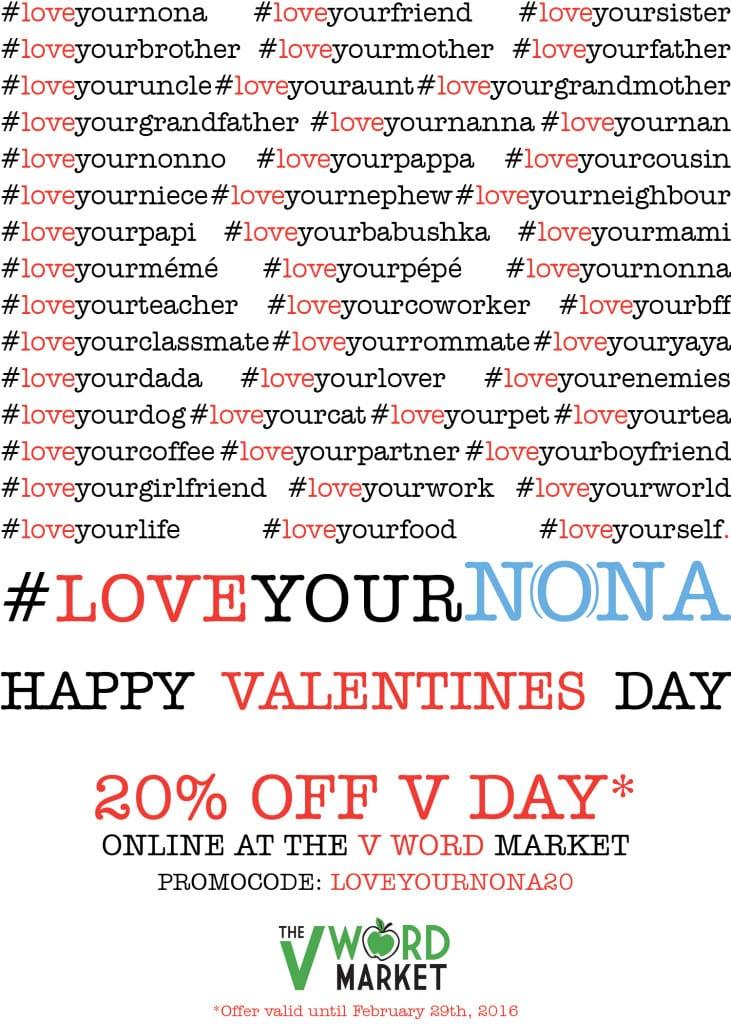 #loveyournona vegan valentines day